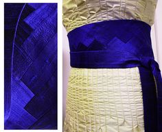 Obigürtel INTARSIA INKBLUE raw silk