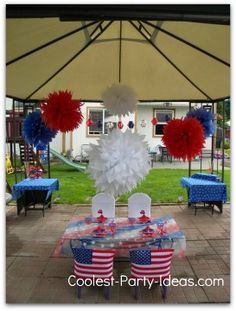 4th of July Party - Pom Pom