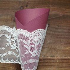 Paper Cones Wedding Rustic Wedding Pew Decoration by AlMercatino