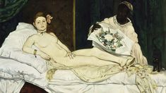 Olympia, 1863 by Édouard Manet on Curiator, the world's biggest collaborative art collection. Edouard Manet Paintings, Judgement Of Paris, Van Gogh Watercolor, Most Famous Paintings, Expo, Black Models, French Art, Great Artists, Impressionism