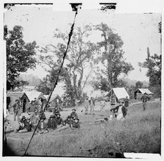 Chattanooga, TN vicinity. Federal camp by the Tennessee  River, 1864
