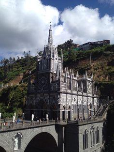 Santuario de Las Lajas Barcelona Cathedral, Building, Travel, Flagstone, Places, Viajes, Buildings, Destinations, Traveling
