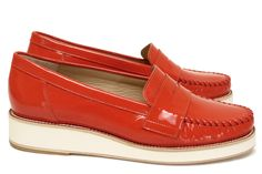 Chaussures Femme Mocassins Printemps Eté 2015 Maurice Manufacture BASSO  Verni orange 659b6318effe