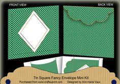 DGreen Dotty Diamond 7x7inch Easy Envelope Mini Kit on Craftsuprint - Add To Basket!