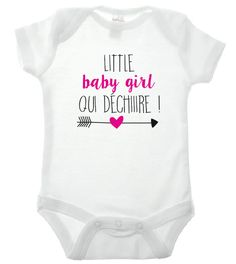"Body humour manches courtes ou longues ""little baby girl qui déchiiire !"" : Mode Bébé par bettina Little Baby Girl, Little Babies, Baby Love, Silhouette Portrait, Tee Shirts, Tees, Baby Shower, Couture, Sport"