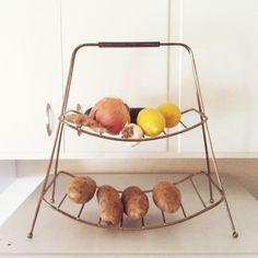 Repurposed magazine rack via Nifty Fifty Vintage Instagram