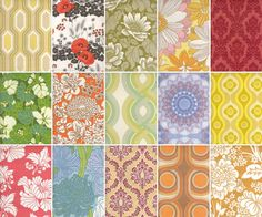 '70s wallpaper designs and colors  top right... my livingroom growing up :)