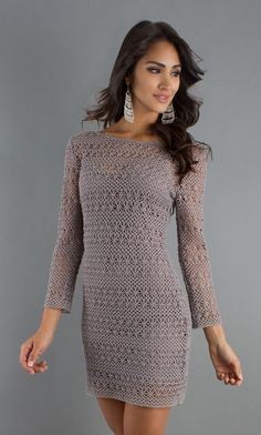 DV by Dolce Vita Short Dress with Sleeves: the line between sheer and tacky