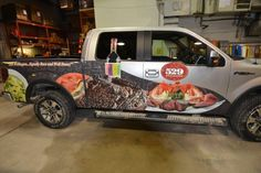 Great graphics on this truck wrap done by Speedpro Imaging Winnipeg!  MMMM hungry?