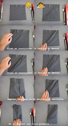 pliage de serviette les plis secrets pliage. Black Bedroom Furniture Sets. Home Design Ideas