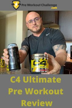 This C4 Ultimate pre workout review goes into detail about this intense, athlete grade energy combination. It's packed with 300mg of Caffeine as well as plenty of Amino Acids such as Creatine and Beta-Alanine. This is a high energy, sugar-free version of the C4 original by Cellucor, possibly the best known pre workout brand worldwide. Beta Alanine, Muscle Building Supplements, Ultimate Workout, High Energy, Amino Acids, Workout Challenge, Build Muscle, Caffeine