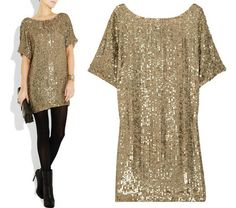 Vince Sequin-Embellished Crepe Dress