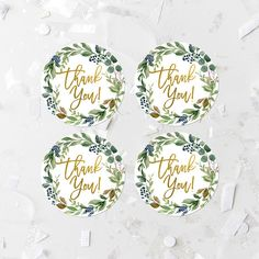 Greenery Thank You Favor Labels Printable Bohemian Favor Tags