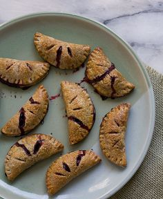Blackberry Cardamom Hand Pies with a Buckwheat Crust