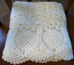 WhiteBaby Blanket for Christening   Crochet by sweetpeacollections, $70.00