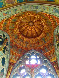 Ceiling St Mary's Church Fountain Abbey England