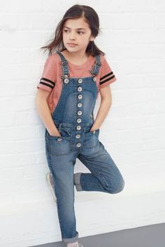 Buy Mid Wash Denim Dungarees (3-16yrs) online today at Next: United States of America