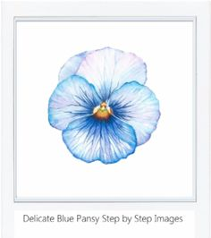 tutorial delicate blue pansy