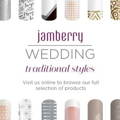 Wedding Season is coming. Are your nails ready? #Jamberry #weddings #weddingnails