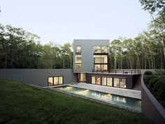Modern Contemporary Architecture Pool Beautiful, Modern & Sharp Home in New York