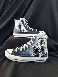 92be6b509cc097 Walking Dead Rick and Daryl Converse by EclecticGoodsVa. FreeMyFeet · Custom  Painted Shoes · John Shanley · Horror