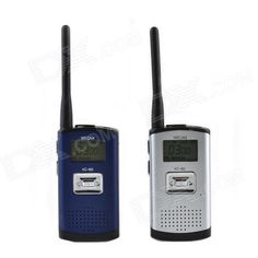 Wecan KC-M3 Ultra-Thin Ultra-Clear 400~470MHz 20-Channel Walkie Talkie - Silver + Blue (2 PCS). Brand Wecan Model KC-M3 Color Silver + Blue Material ABS + aluminum alloy Quantity 2 Frequency Range 400~470MHz Channel 20 Frequency Stability +/- 30 ppm Output Power H: 2 / L: 0.5 W Working Voltage 3.6 V Working Distance 6000 m Encryption CTCSS Battery Capacity 1200 mAh Features Ultra-thin, Ultra-clear, 20 channels, working distance 6000m Other 1, Countries frequency standards are optional; 2, 38…