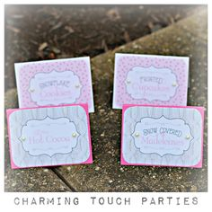 Winter Wonderland food tents by Charming by CharmingTouchParties
