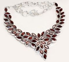 Gorgeous Garnet Sterling Silver Necklace (Image1)