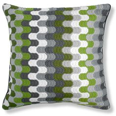 Jonathan Adler Green Bargello Puzzle Pillow in Bargello Pillows
