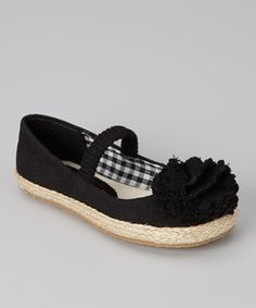 Another great find on #zulily! Launch Black Lulu Strap Flat by Launch #zulilyfinds