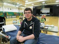 Junior Jason Lentz made his first lifetime donation. — at Troy Christian Schools. #blooddonor #hero