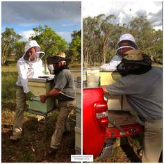 Loading the hive into the ute for the trip to Canberra. Healthy Hives are heavy ! http://www.canberraurbanhoney.com.au/thehivesarrive/#
