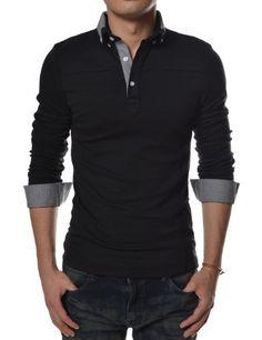 (TCL03) TheLees Mens Casual Slim Fit V-neck Long Sleeve Plain Tshirts BLACK Medium(US Small) TheLees http://www.amazon.com/dp/B00DJM4QIS/ref=cm_sw_r_pi_dp_ZaEsub1T9A5PQ
