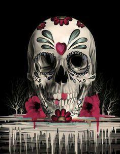 Sugar skull bedding