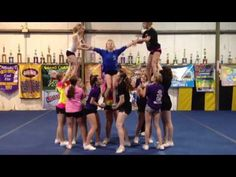 Level 4 Cheerleading Pyramid - YouTube #Cheer #Cheerleader #SpiritAccessories #ThingsWeLove