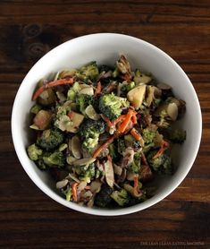 Chopped Broccoli Salad with Sweet Tahini Dressing - A healthier (and better tasting) mayo-less take on the traditional salad favorite.