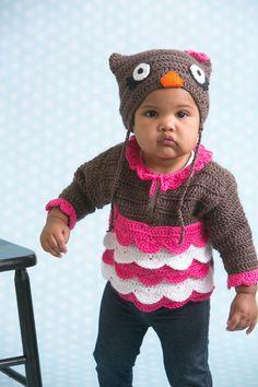 Owl Whoodie Set - Crochet Pattern