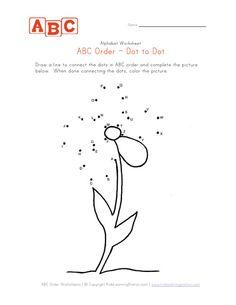 abc flower dot-to-dot