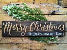 Christmas Sign Personalized Christmas Sign by EnchantingPatina