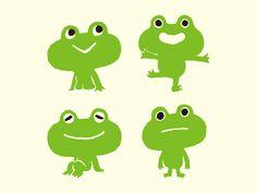 Maniackers Design Logo & Chara | ロゴ & キャラ Frog Illustration, Character Illustration, Japanese Characters, Cute Characters, Frog Logo, Character Inspiration, Character Design, Frog Design, Simple Line Drawings