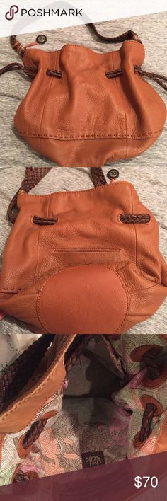 The Sak brown leather purse The Sak handmade leather crochet handle bag, absolutely NO signs of wear (used for a total of two days) The Sak Bags Satchels
