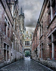 Blind Donkey Alley in Bruges (Brugge, Belgium)