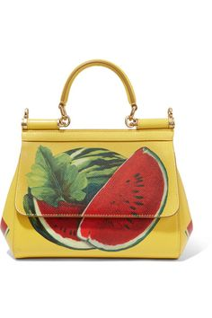 Dolce & Gabbana | Sicily mini printed textured-leather shoulder bag | NET-A-PORTER.COM