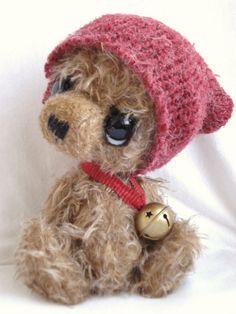 Marius artist bear by Sylvie Touzard (etsy)