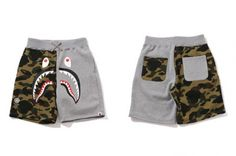 4dfb069445 BAPE 1st Camo Shark Sweat Shorts Bape Camo Shorts, Bape Shark, A Bathing Ape