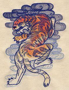 The Seven Seas - Tiger Tattoo design (UT5272) from UrbanThreads.com