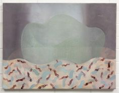 Adrienne Vaughan, Polora, 2013 Oil and enamel on canvas, 540 x 660mm