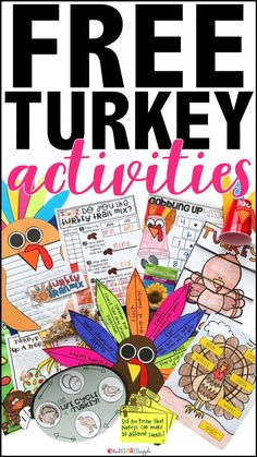 Turkey Activities for the Primary Classroom - Babbling Abby