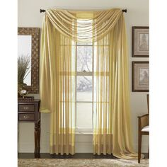 Awad Home Fashion Voile Window Solid Rod Pocket Panel Pair Color: Lilac
