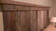 Total DIY barnboard headboard. Corb done good!